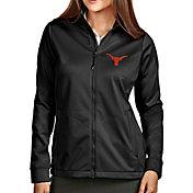 Antigua Women's Texas Longhorns Full-Zip Golf Black Jacket