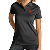 Antigua Women's Texas Longhorns Quest Performance Black Polo