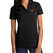 Antigua Women's Texas Longhorns Tribute Performance Black Polo
