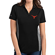 Antigua Women's Texas Longhorns Venture Black Polo