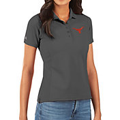Antigua Women's Texas Longhorns Grey Legacy Pique Polo