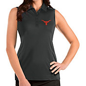 Antigua Women's Texas Longhorns Grey Tribute Sleeveless Polo