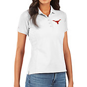 Antigua Women's Texas Longhorns Legacy Pique White Polo