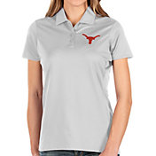 Antigua Women's Texas Longhorns Balance White Polo