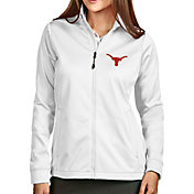 Antigua Women's Texas Longhorns Full-Zip Golf White Jacket