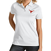 Antigua Women's Texas Longhorns Quest Performance White Polo