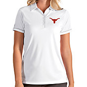 Antigua Women's Texas Longhorns Salute Performance White Polo