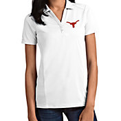 Antigua Women's Texas Longhorns Tribute Performance White Polo