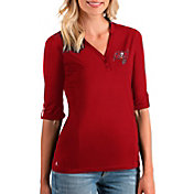 Antigua Women's Tampa Bay Buccaneers Accolade Red Three-Quarter Sleeve Polo