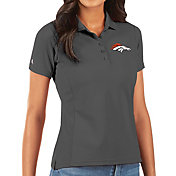 Antigua Women's Denver Broncos Grey Legacy Pique Polo