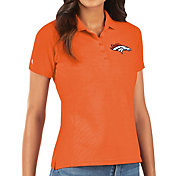 Antigua Women's Denver Broncos Orange Legacy Pique Polo