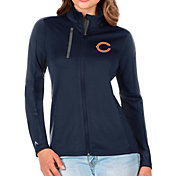 Antigua Women's Chicago Bears Navy Generation Full-Zip Jacket