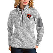 Antigua Women's Chicago Bears Grey Fortune Pullover Jacket