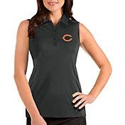 Antigua Women's Chicago Bears Tribute Sleeveless Grey Performance Polo