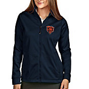Antigua Women's Chicago Bears Navy Full-Zip Golf Jacket