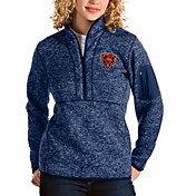 Antigua Women's Chicago Bears Navy Fortune Pullover Jacket