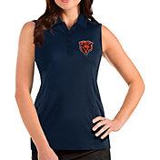 Antigua Women's Chicago Bears Navy Tribute Sleeveless Polo