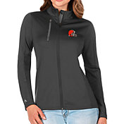 Antigua Women's Cleveland Browns Grey Generation Full-Zip Jacket