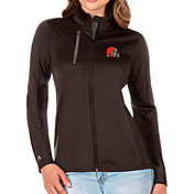 Antigua Women's Cleveland Browns Brown Generation Full-Zip Jacket