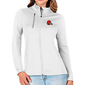 Antigua Women's Cleveland Browns White Generation Full-Zip Jacket