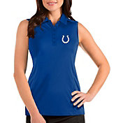 Antigua Women's Indianapolis Colts Tribute Sleeveless Royal Performance Polo