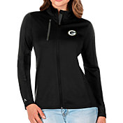 Antigua Women's Green Bay Packers Black Generation Full-Zip Jacket