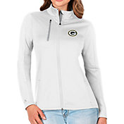 Antigua Women's Green Bay Packers White Generation Full-Zip Jacket