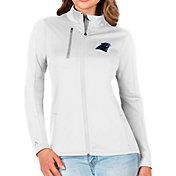 Antigua Women's Carolina Panthers White Generation Full-Zip Jacket