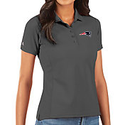 Antigua Women's New England Patriots Grey Legacy Pique Polo