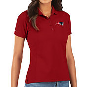 Antigua Women's New England Patriots Red Legacy Pique Polo