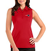 Antigua Women's New England Patriots Tribute Sleeveless Red Performance Polo