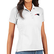 Antigua Women's New England Patriots White Legacy Pique Polo