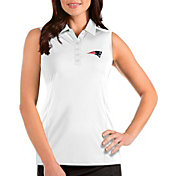 Antigua Women's New England Patriots Tribute Sleeveless White Performance Polo