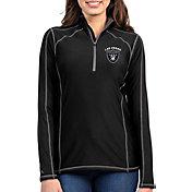 Antigua Women's Las Vegas Raiders Tempo Black Quarter-Zip Pullover