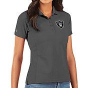 Antigua Women's Las Vegas Raiders Grey Legacy Pique Polo