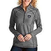 Antigua Women's Las Vegas Raiders Tempo Grey Quarter-Zip Pullover