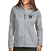 Antigua Women's Las Vegas Raiders Silver Full-Zip Golf Jacket