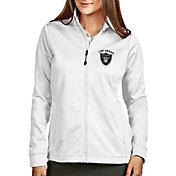 Antigua Women's Las Vegas Raiders White Full-Zip Golf Jacket