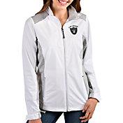 Antigua Women's Las Vegas Raiders Revolve White Full-Zip Jacket