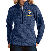 Antigua Women's Los Angeles Rams Navy Fortune Pullover Jacket