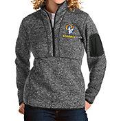 Antigua Women's Los Angeles Rams Grey Fortune Pullover Jacket