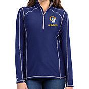 Antigua Women's Los Angeles Rams Royal Tempo Half-Zip Pullover Shirt