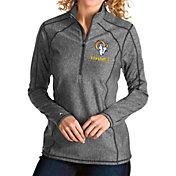 Antigua Women's Los Angeles Rams Grey Tempo Half-Zip Pullover Shirt