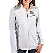 Antigua Women's Los Angeles Rams White Revolve Full-Zip Jacket