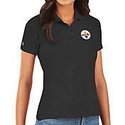 Antigua Women's Pittsburgh Steelers Black Legacy Pique Polo