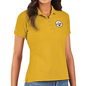 Antigua Women's Pittsburgh Steelers Gold Legacy Pique Polo