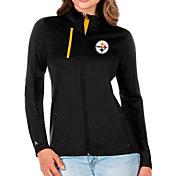 Antigua Women's Pittsburgh Steelers Black Generation Full-Zip Jacket