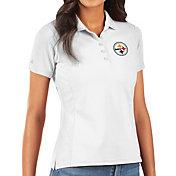 Antigua Women's Pittsburgh Steelers White Legacy Pique Polo