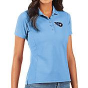 Antigua Women's Tennessee Titans Blue Legacy Pique Polo
