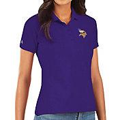 Antigua Women's Minnesota Vikings Purple Legacy Pique Polo